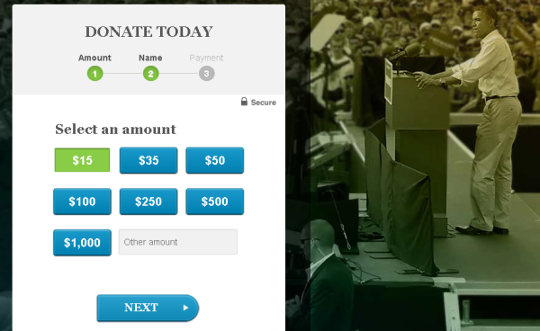 donate for obama